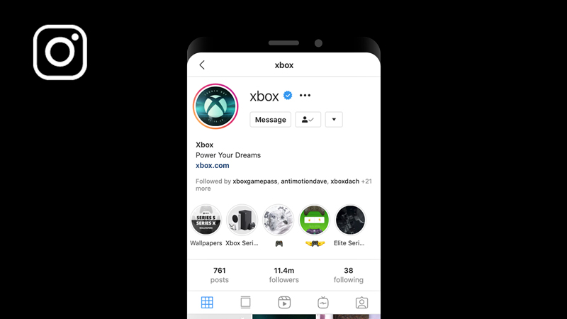 An Instagram profile with a Launch Day banner and profile picture