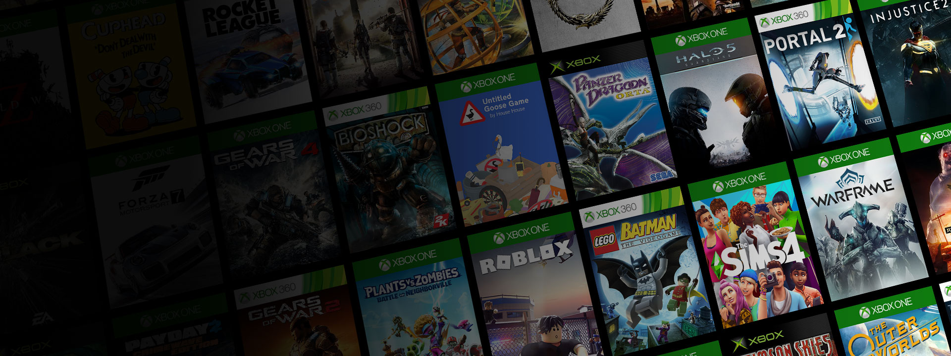 Collection de coffrets de jeux Xbox One, Xbox 360 et Xbox d'origine