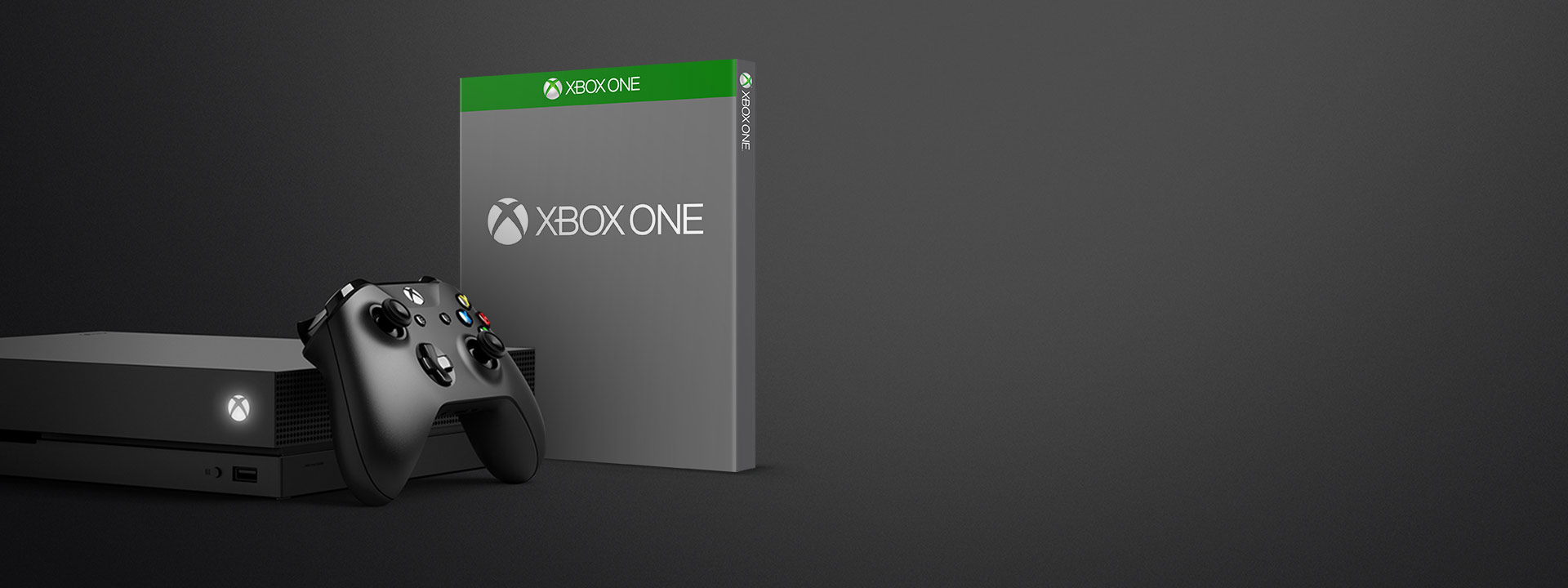 Xbox One X with Wireless Controller and a blank boxshot