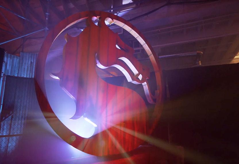 Mortal Kombat logo showing the silhouette of a dragon
