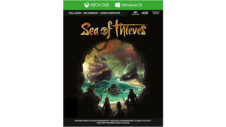 Imagem da caixa do Sea of Thieves