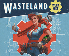 Women holding a wrench in the wastland workshop