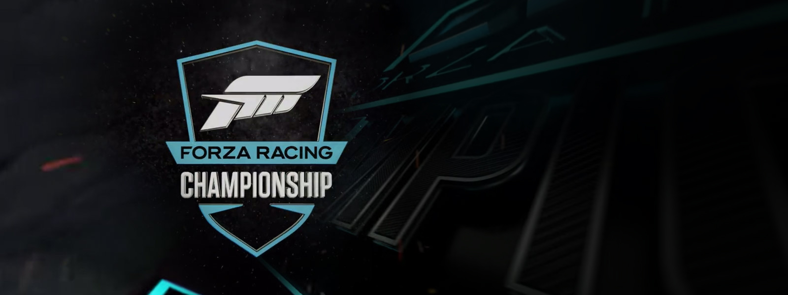 Forza Racing Championship, Close up view of textured racing championship logo