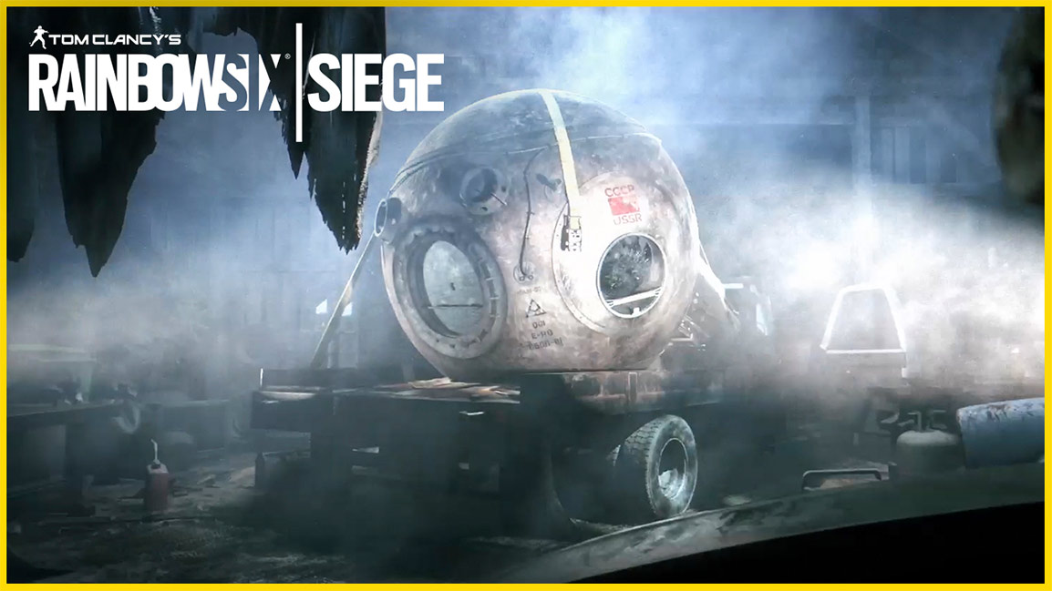 Tom Clancy's Rainbow Six Siege, Russian space capsule sits on the back of a vehicle