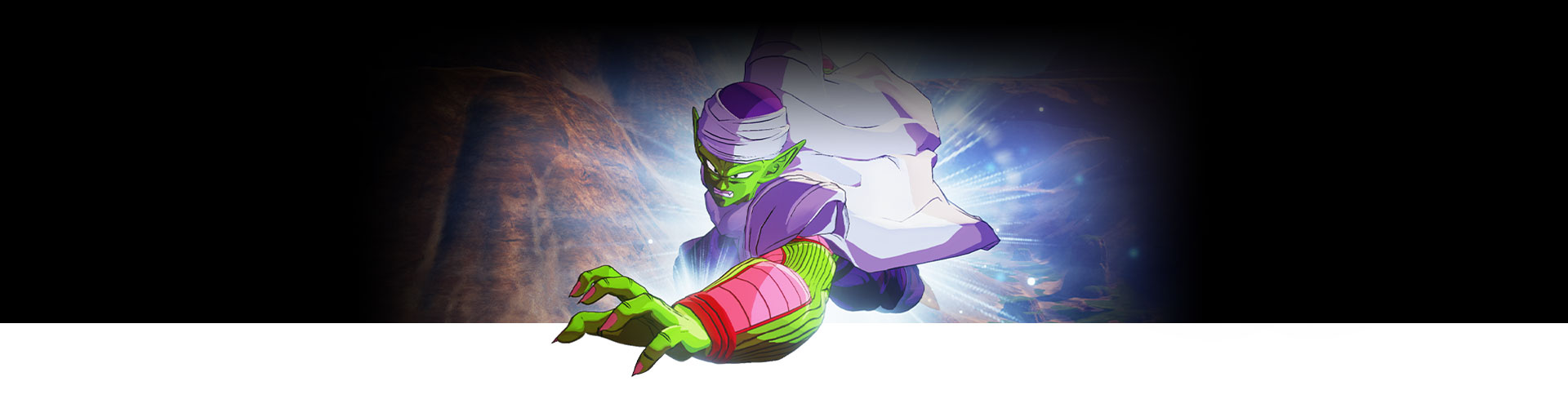 Piccolo flies forward with his hard outstretched