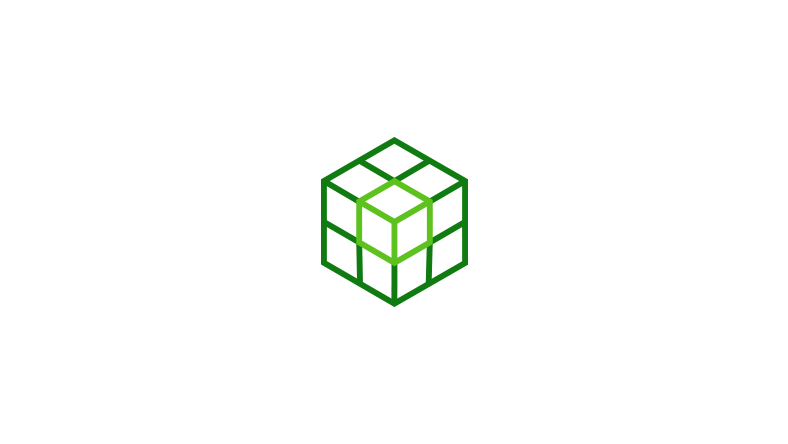 Icon of a cube highlighted inside a stack of cubes