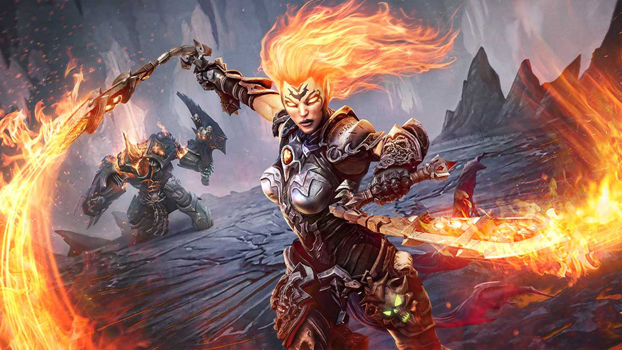 Fury mit zwei Feuerpeitschen
