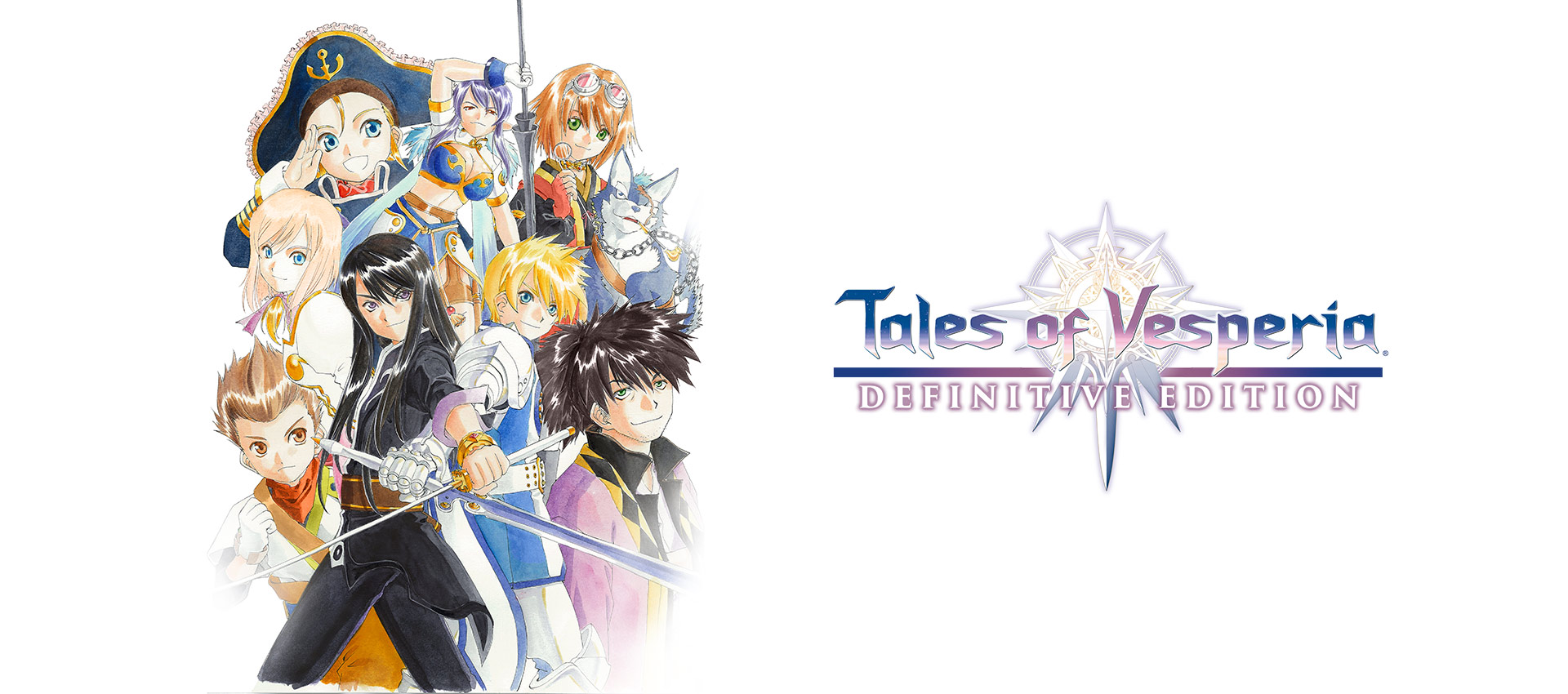 Tales of Vesperia: Definitive Edition, Group of playable characters huddled close together