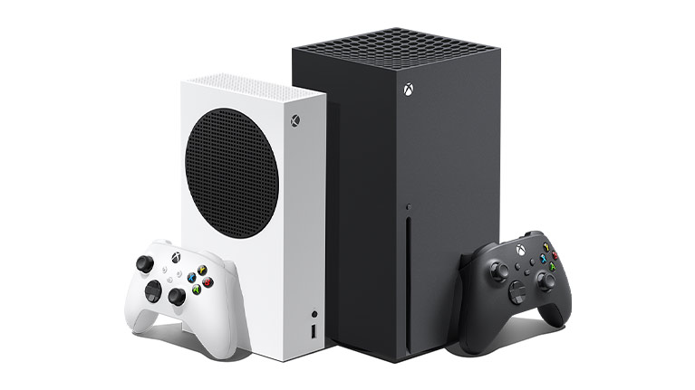 Xbox Series X and Xbox Series S consoles side by side.