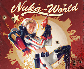 Ragazza con blaster in Nuka World