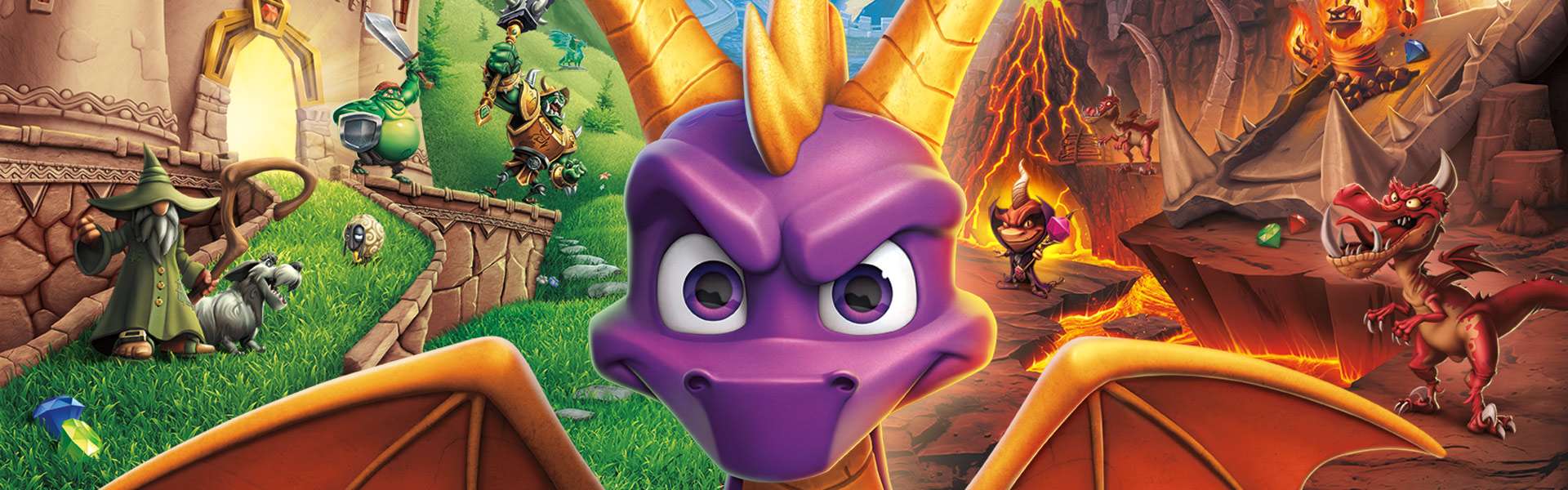 Spyro Reignited Trilogy – Spyro stands in front of cave entrance