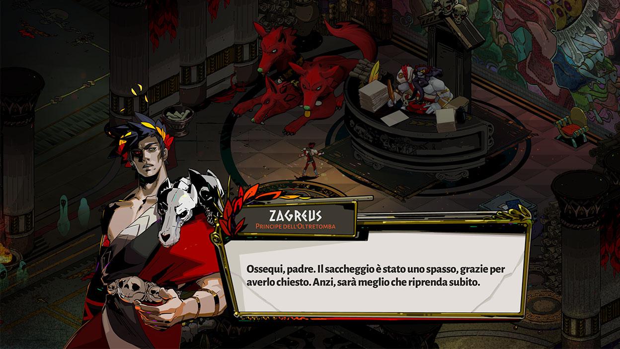 Screenshot del gioco Hades.