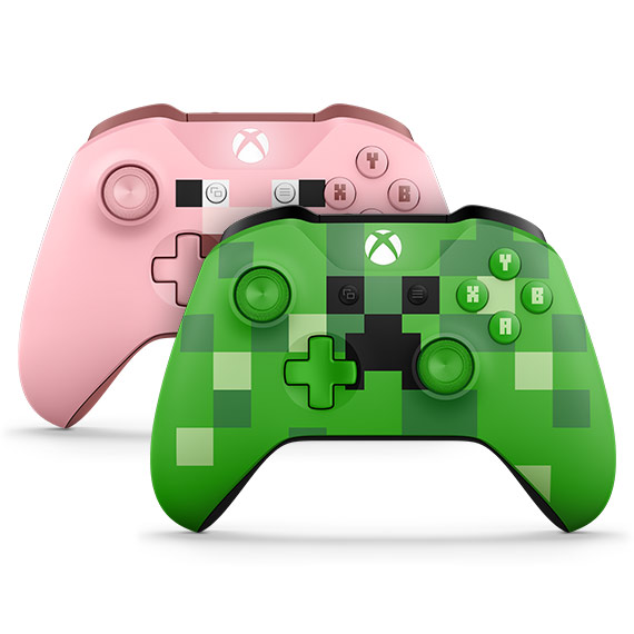 Xbox One Controller Pig und Creeper
