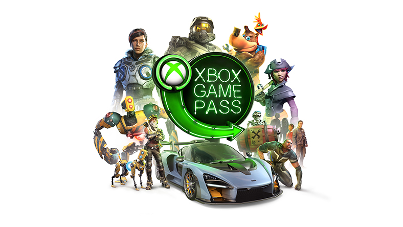 Xbox Game Pass, neon green sign