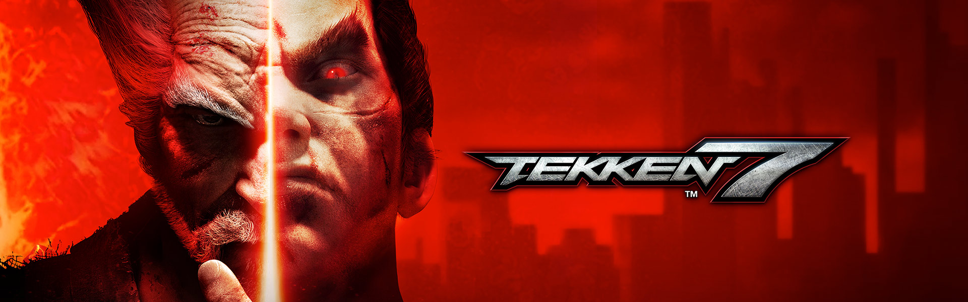 Tekken 7. Two halves of characters faces stuck together