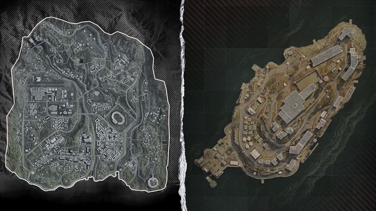 Map of Verdansk and Rebirth Island