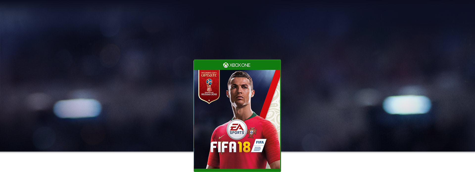 FIFA 18 boxshot, Ronaldo in a Portugal World Cup kit