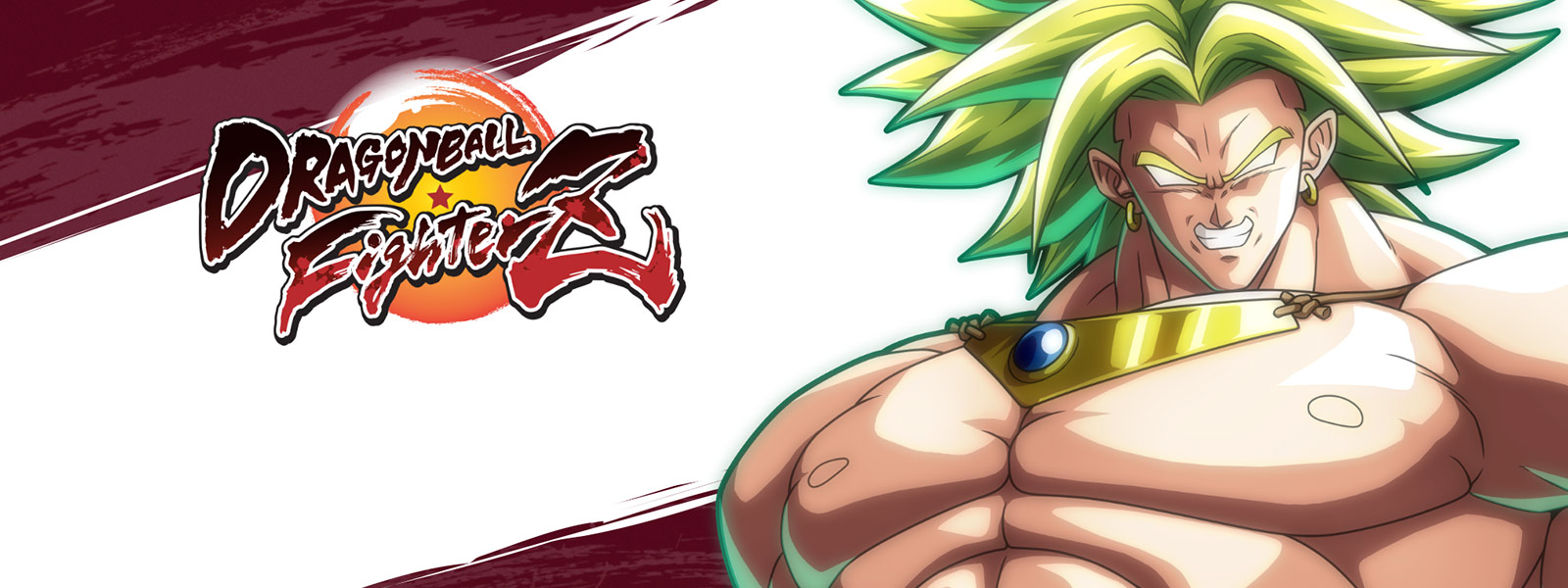 Dragon Ball FighterZ, vista frontale di Broly con il suo enorme torace