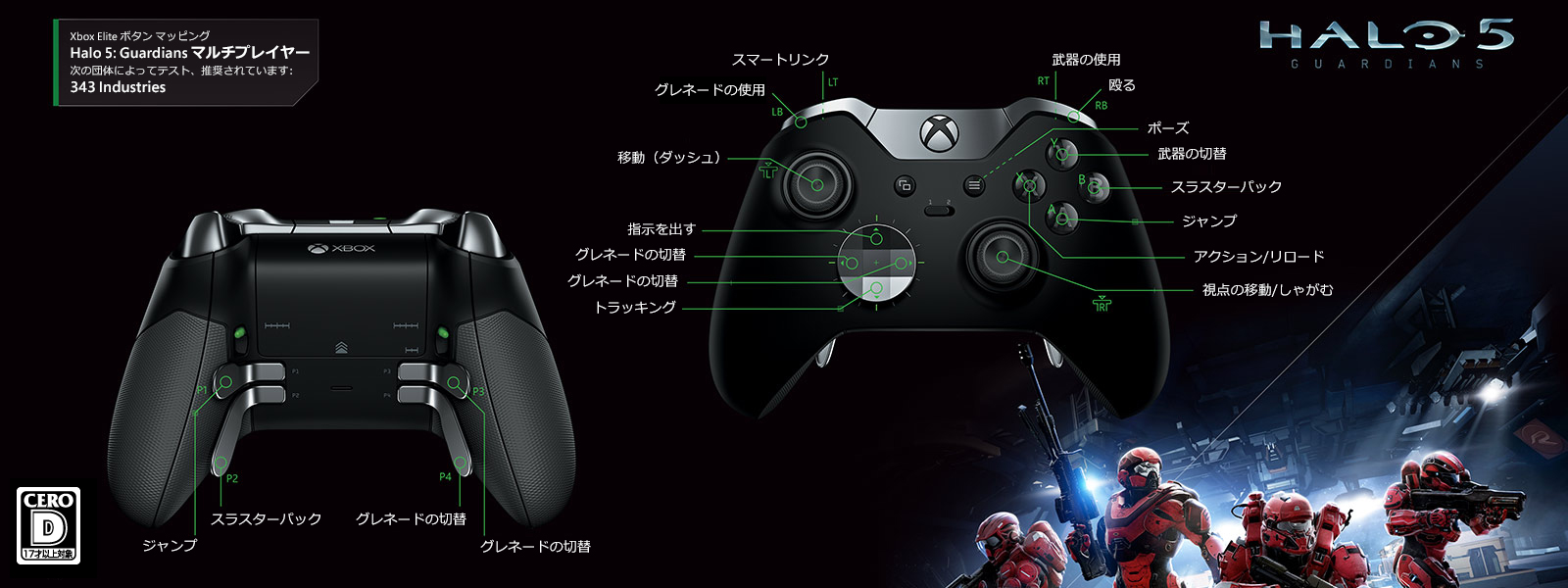 Halo 5 - Guardians マルチプレイヤー Elite マッピング