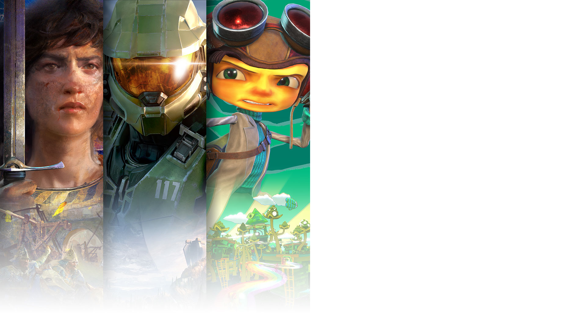 Ensemble de personnages d'Age of EmpiresIV, Halo Infinite et Psychonauts2