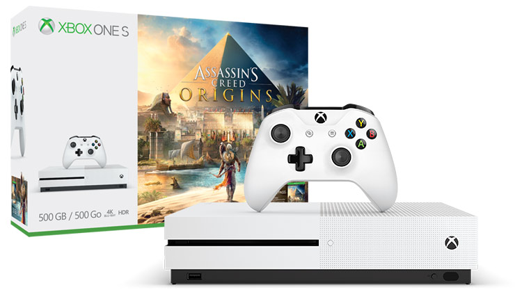 Pack Xbox One S (500 Go) + Assassin's Creed Origins