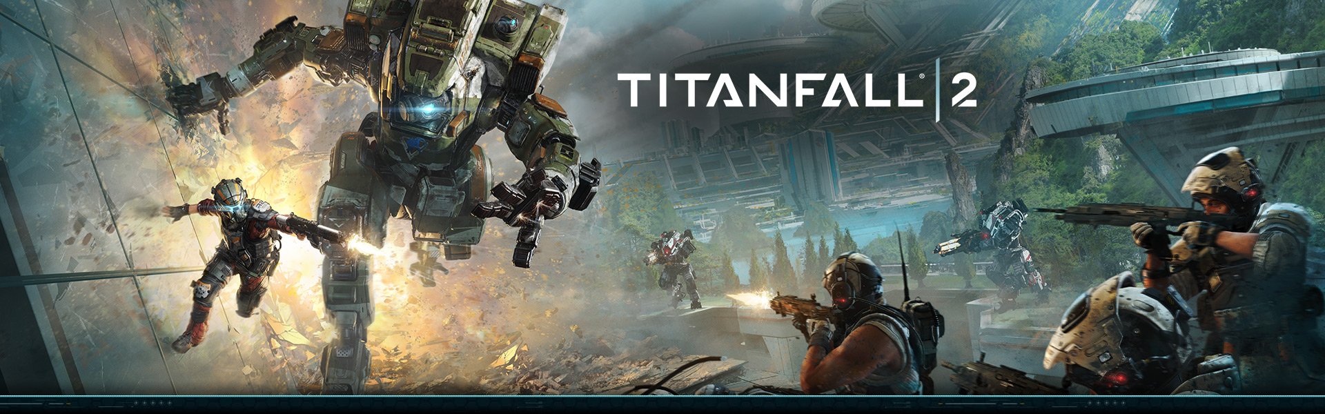 Titanfall 2 soldiers battling