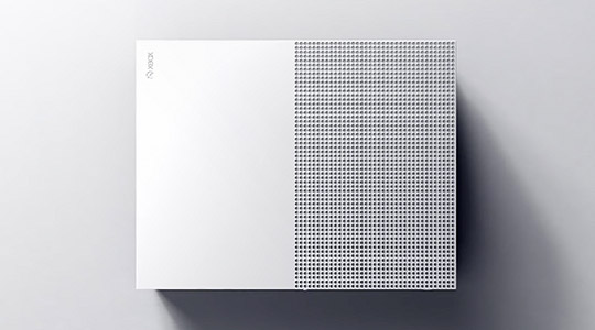 Detailed view of Xbox One S console from above