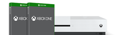 Xbox One S with a game