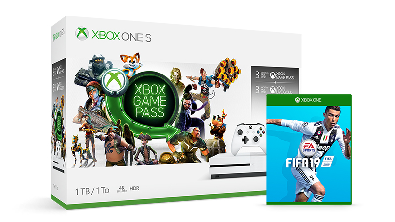Get the Xbox One S starter bundle and an additional game like FIFA 19, starting at £XXX