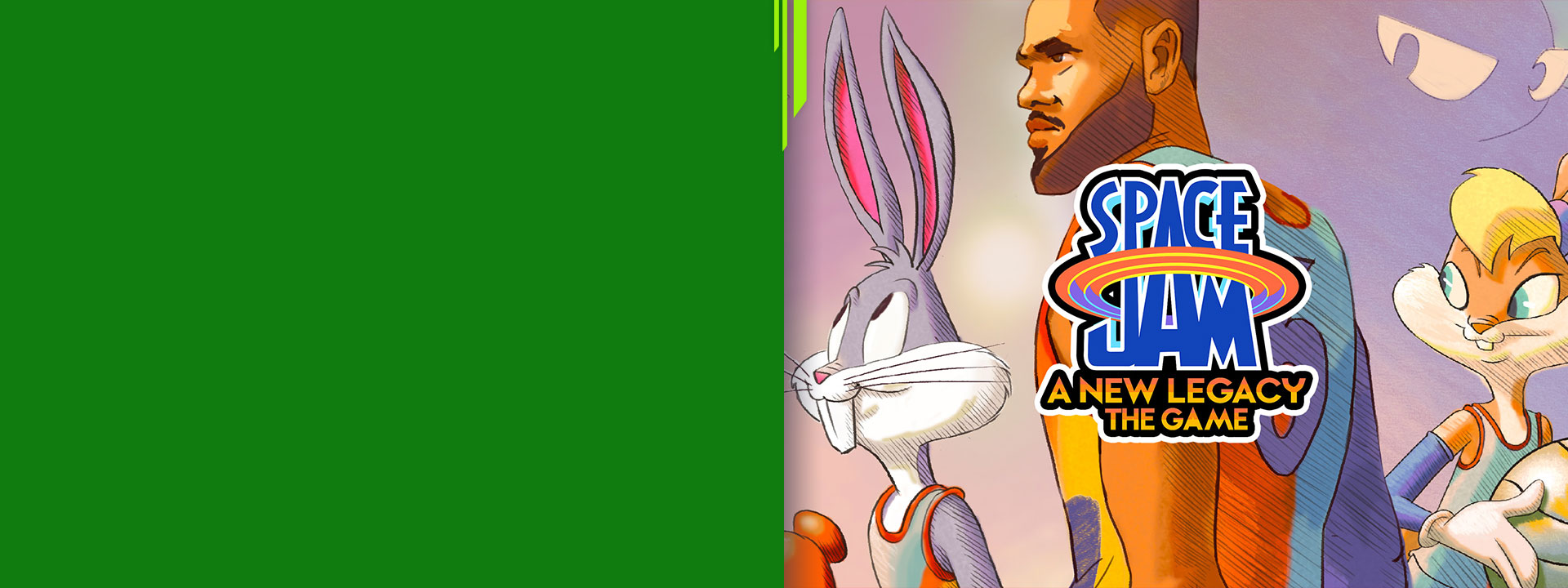 Space Jam: a new legacy awaits, pixel art of Lebron James, bugs and Lola bunny
