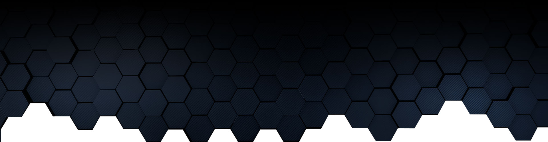 Ombre black to blue hexagons