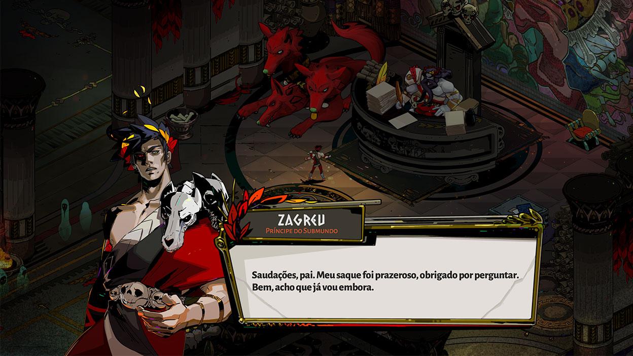Captura de tela do jogo Hades.