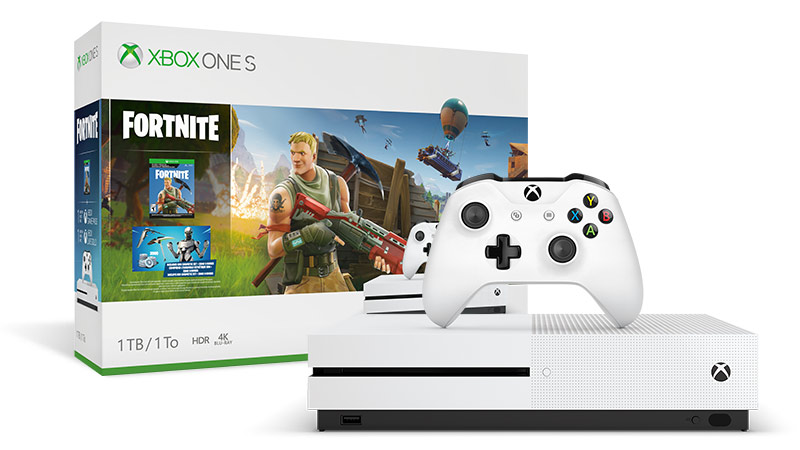 Image du pack Xbox One S et sa manette + Fortnite