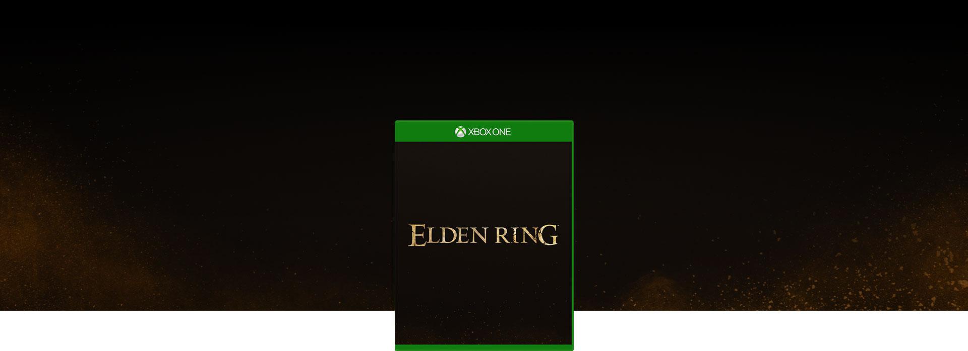 暗くて明るい茶色の斑点が黒に消える Elden Ring のパッケージ画像