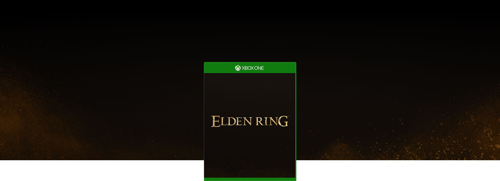 Elden Ring 的包裝圖與深淺棕色亮點消失在黑暗中