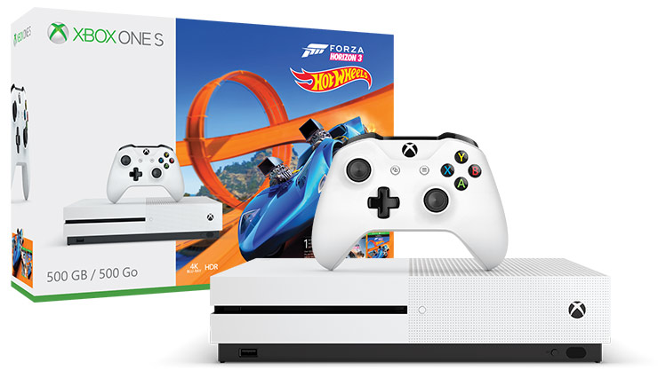Xbox One S Forza Horizon 3 Hot Wheels Bundle (500GB)