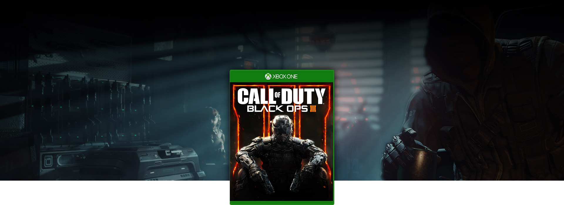Call of Duty 3 boxshot with character sitting in a room in the background