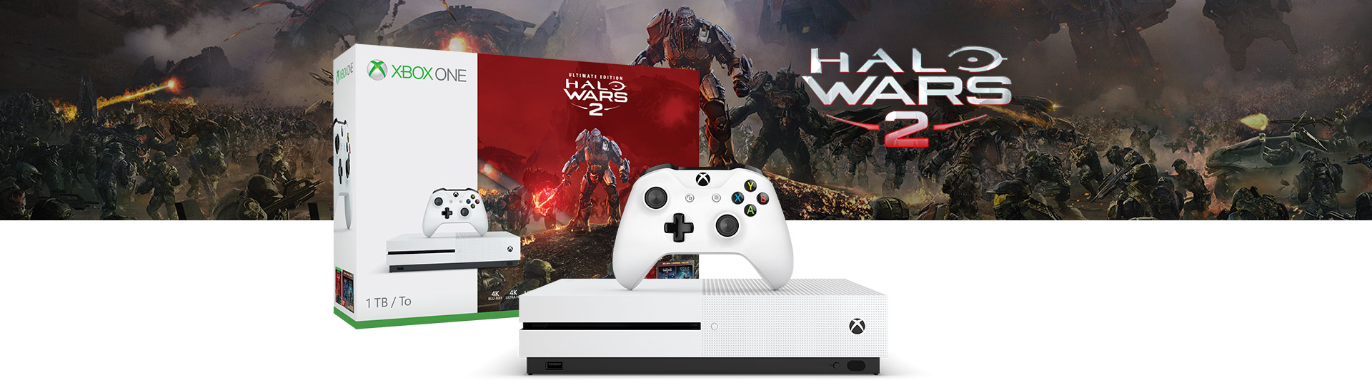 Pack Xbox One S + Halo Wars 2