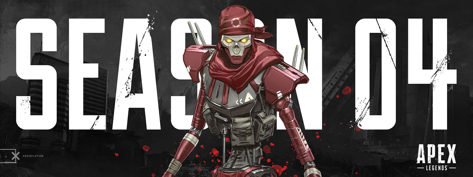 Apex Legends, Season 4, the robot Revenant stares with glowing eyes