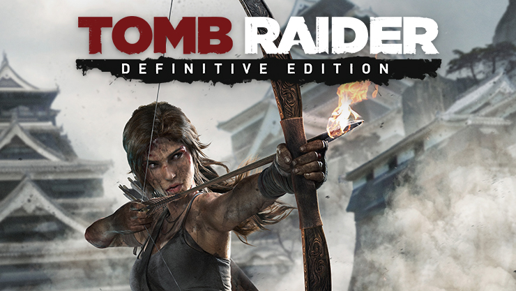 Tomb Raider Definitive Edition, Lara readies a flaming arrow