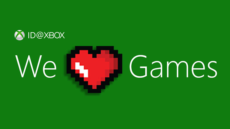 ID at Xbox logo, we heart games