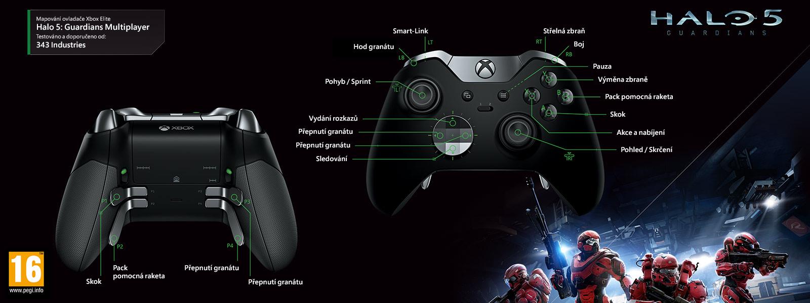 Halo 5: Guardians – elitní mapování pro hraní ve více hráčích