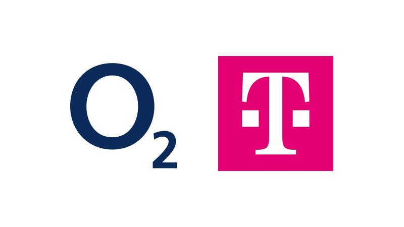 o2 logo | T:Mobile logo