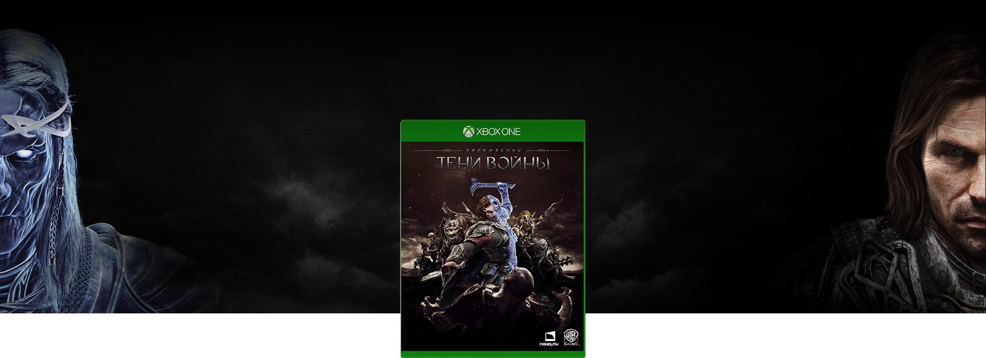 снимок обложки игры «Средиземье: Тени войны». Настоящее и призрачное лица Талиона друг напротив друга