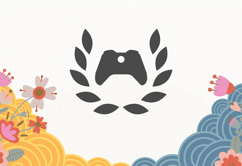 Xbox Ambassadors logo on a white background with colorful flowers.