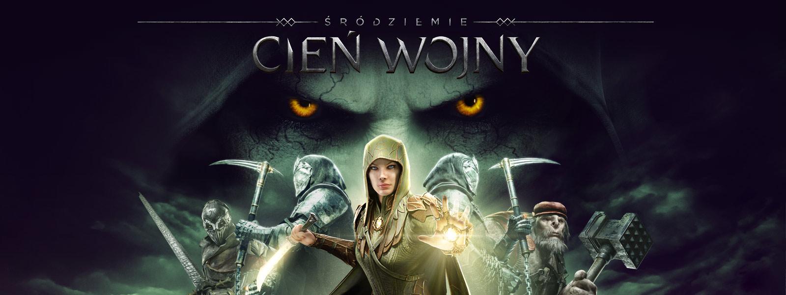 Śródziemie: Cień Wojny, Eltariel stoi przed 4 postaciami, spojrzenie dużych oczu powyżej
