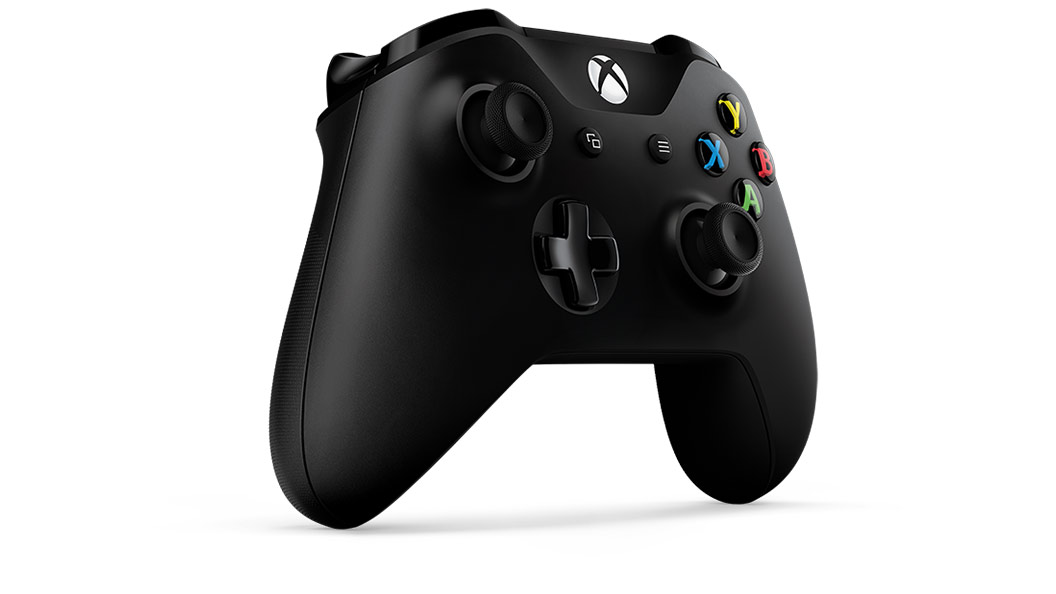 Right angle view of Black Controller