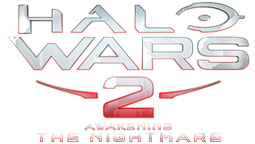 Halo Wars 2, baner główny z logo dodatku Awakening the Nightmare
