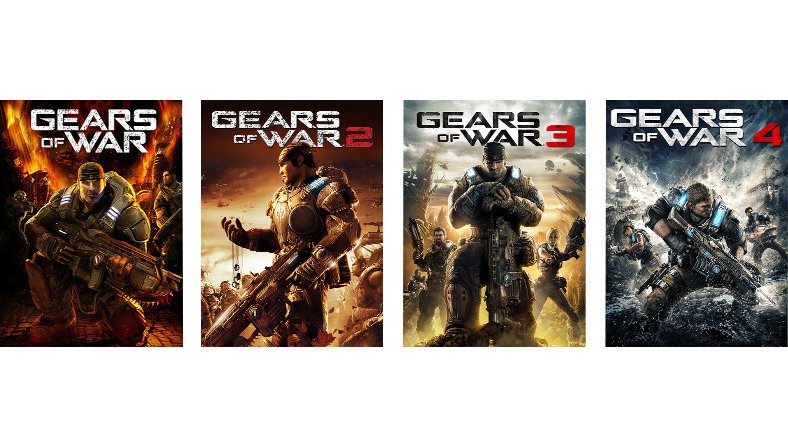 Gears of War、2、3、4 ゲーム パッケージ画像