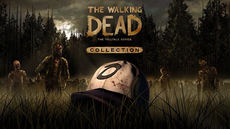 The Walking Dead the Telltale series collection (Clementine's hat rests in a field as a horde of zombies approach)